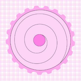 Cupcake. rosado bonito escultura fotográfica