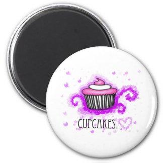 cupcakes<3 imán redondo 5 cm