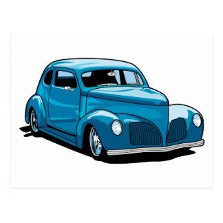 Cupé gordo del coche de carreras de Fendered Postal
