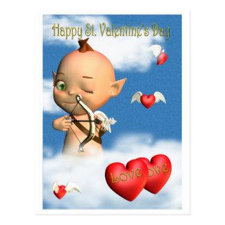 Cupid feliz del el día de San Valentín del St. Postal