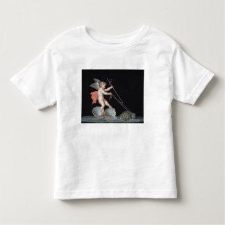 Cupid que es llevado por las tortugas (aceite en camiseta de bebé