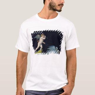 Cupid que es llevado por un par de los cisnes camiseta