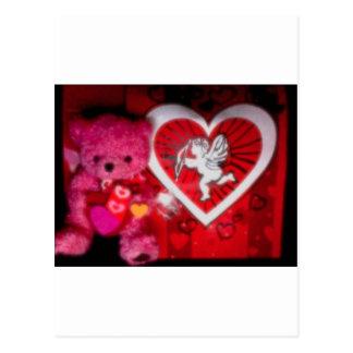 Cupid y foto 10138 del peluche postal