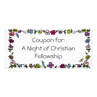 Cupón cristiana de la beca tarjetas publicitarias