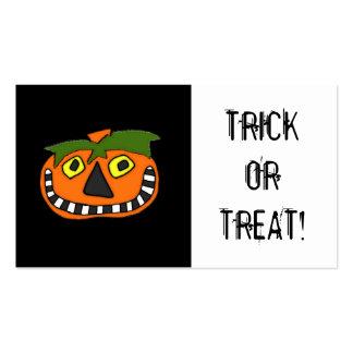 Cupón de Halloween del bolso del caramelo del truc Tarjetas De Visita