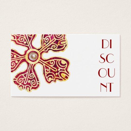 Cupón elegante del descuento tarjeta de negocios