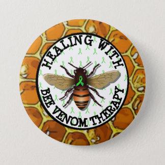 Chapa Redonda De 7 Cm Cura con el botón de la cinta de Lyme de la