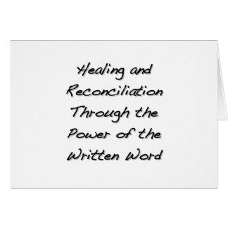 Cura y reconciliación tarjeta de felicitación