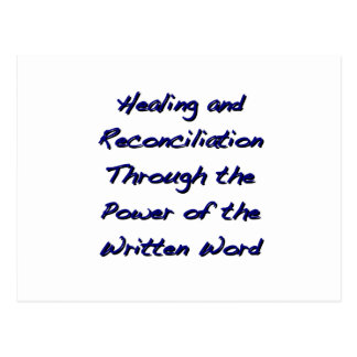 Cura y reconciliación tarjeta postal