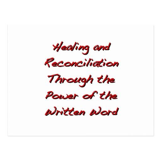 Cura y reconciliación postales