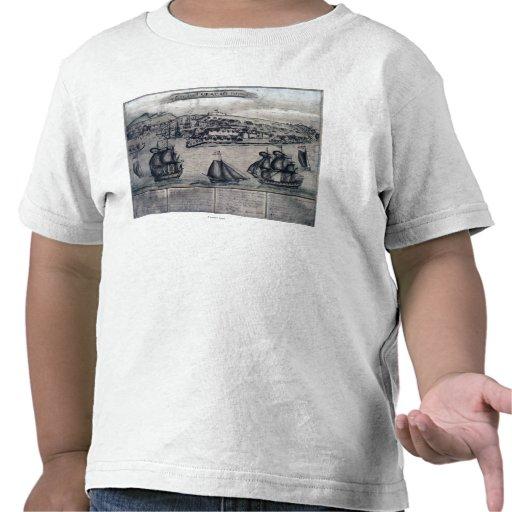 CuracaoPanoramic MapCuracao, Países Bajos Camiseta