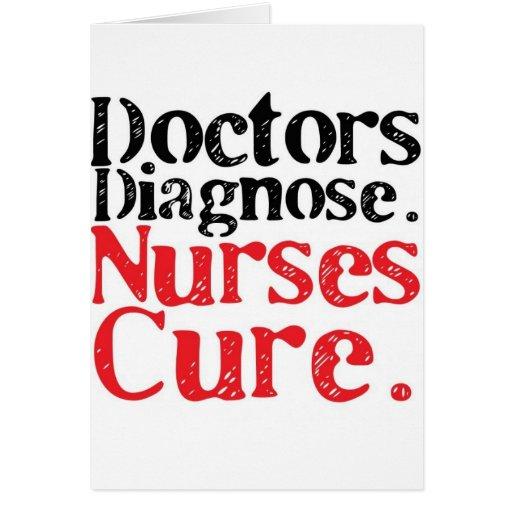 Curación de las enfermeras felicitacion