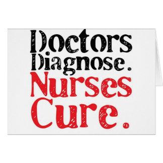Curación de las enfermeras tarjetas