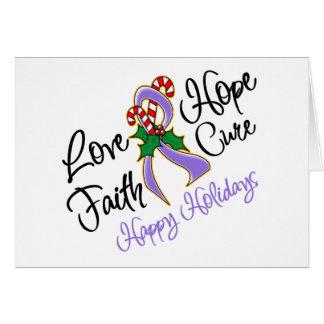Curación del amor de la esperanza del linfoma de tarjeta de felicitación