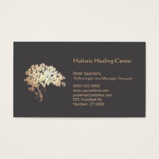 Curador holístico y natural del árbol del zen del tarjeta de negocios