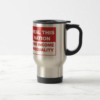 Cure esta nación - desigualdad de la renta del taza de viaje