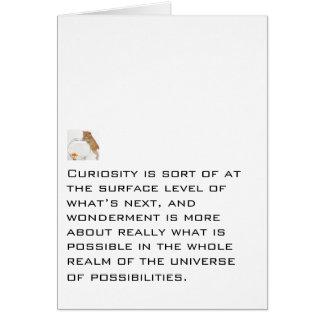 Curiosidad y admiración felicitacion