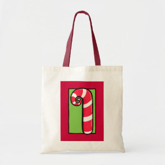 Curly Candy Cane red Bag