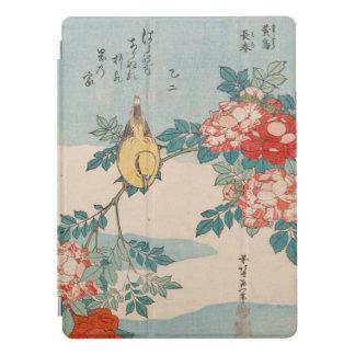Curruca y rosas GalleryHD del vintage de Hokusai Cubierta Para iPad Pro