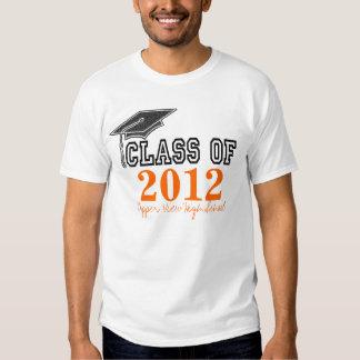 Curso de graduación anaranjado de la camiseta 2012