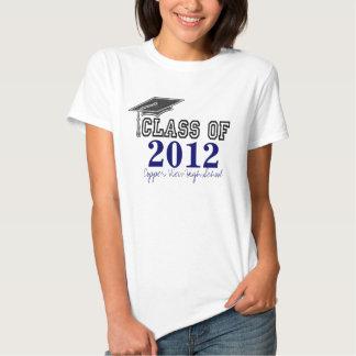 Curso de graduación de los azules marinos de la camisetas