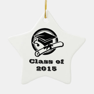 Curso de graduación del diploma y del casquillo de adorno de cerámica en forma de estrella