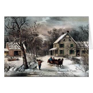 Curtidor y Ives - tarjeta de felicitación -