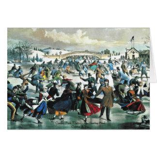 Curtidor y Ives - tarjeta de felicitación - charca