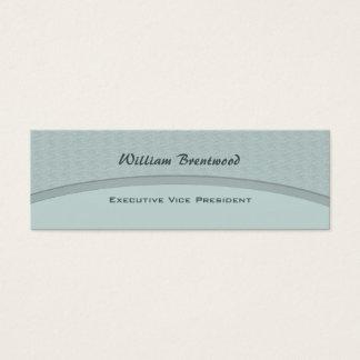 Curva azul en colores pastel tarjeta de visita pequeña