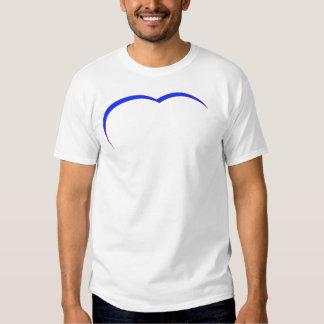 Curva Azul-Roja del corazón los regalos de Zazzle Camiseta