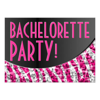 Curva Bachelorette Party del negro del rosa de la