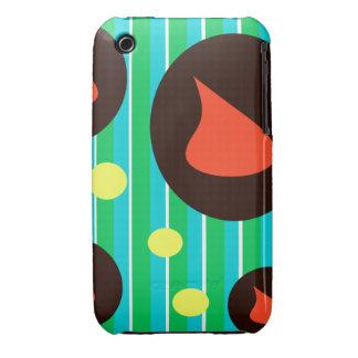 Curva retra de la baya del negro del diseño iPhone 3 Case-Mate cárcasa