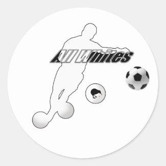 Curva tiene gusto de un kiwi todo el fútbol del pegatinas redondas