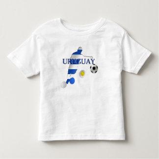 Curva tiene gusto de una bandera uruguaya de los camiseta de bebé
