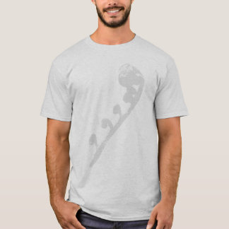Curvado poco algo camiseta