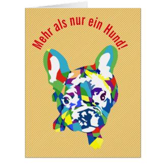 Curvado texto con bulldog tarjeta de felicitación grande