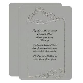 Curvar la invitación rococó del boda