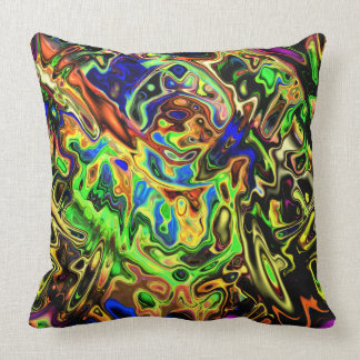 Curvas coloridas caóticas cojín decorativo