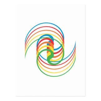 Curvas del color: Ejemplo del vector: Postal