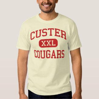 Custer - pumas - alto - Milwaukee Wisconsin Camisas
