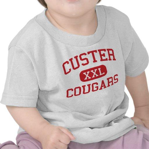 Custer - pumas - alto - Milwaukee Wisconsin Camisetas