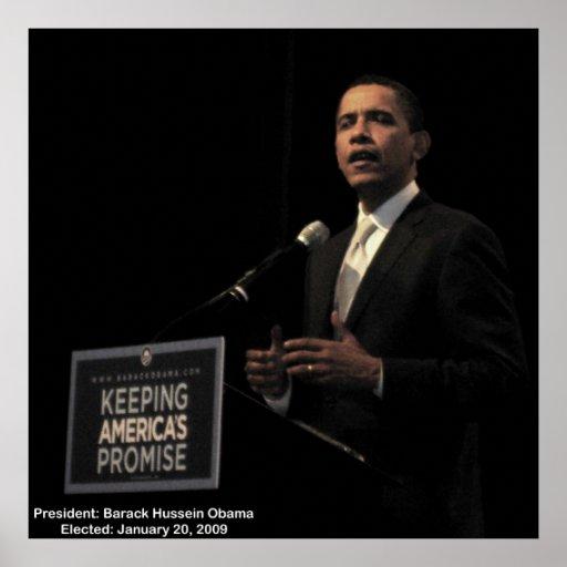 Custodia de presidente Obama de la promesa de Amér Póster