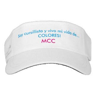 Custom Tejido Visor, Blanco DEL MCC, DE COLORES Visera