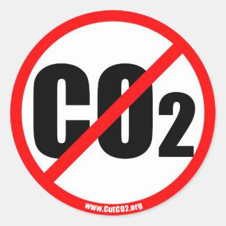 CutCO2.org - propaganda orgánica del 100% Pegatina Redonda