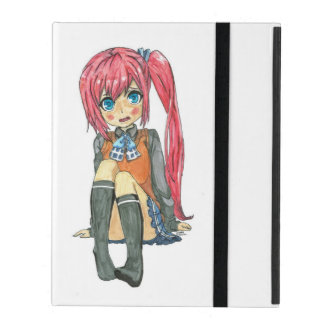 Cute anime girl funda para iPad