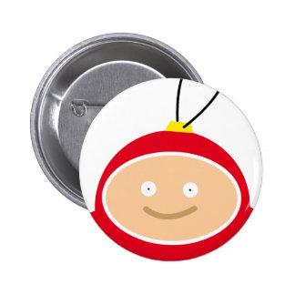 Cute Christmas Ball Button