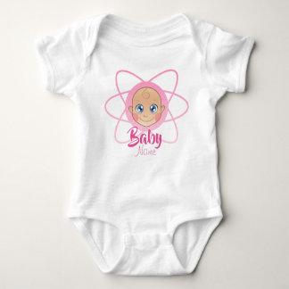 Cute Custom nombre jersey bebé Girl Bodysuit Pink