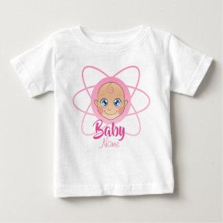 Cute Custom nombre jersey bebé Girl Shirt Pink