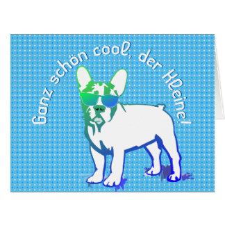Cute French Bulldog Tarjeta De Felicitación Grande