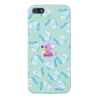 Cute iphone case with cats and mouse